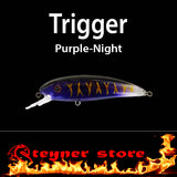 Balista Trigger LED fishing Lure purple night