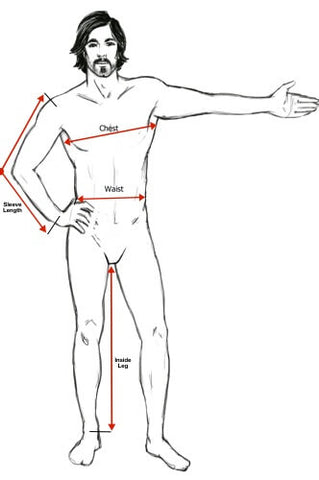 man suit measuring method