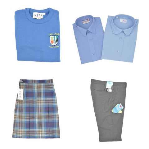Colaiste Chiarain Uniform: Jumper, Skirt, Blouse, Shirt, Trousers