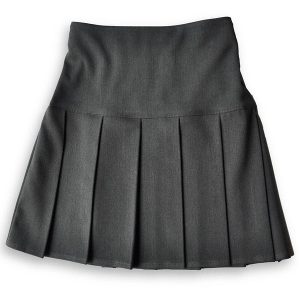 Skirt HEW Fan Pleat Stretch Grey (age 11-14)