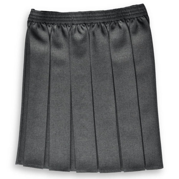 Skirt EW Box Pleat Grey (age 11-14)