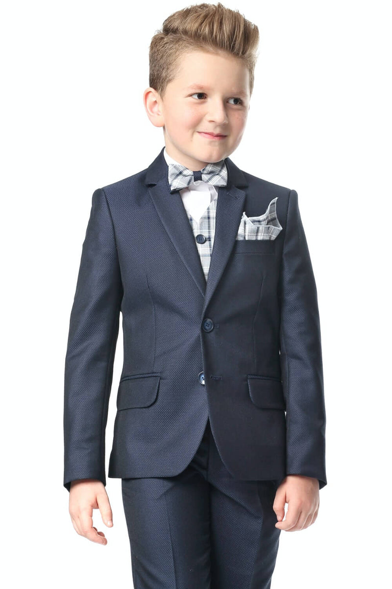 Enzo Boys 3pc Suit - Navy