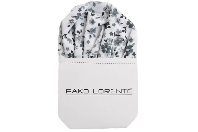 Handkerchief PS122 - White / floral