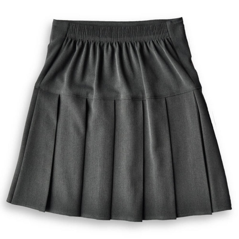 Skirt HEW Fan Pleat Stretch Grey (age 9/10)