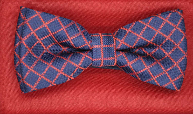 TBOW-12 Navy Red Check