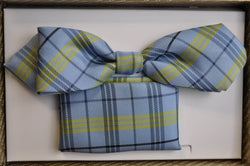 TBOW-20, Blue-Green Check Bow Tie