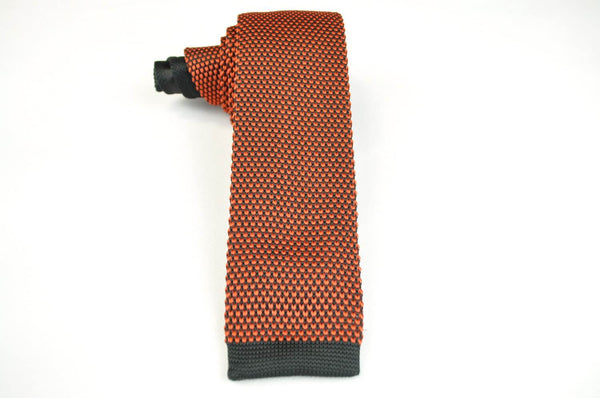 TCPA-104, Orange/Red-Black Knitted Tie