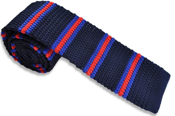 TCPA-111, Navy-Blue-Red Knitted Tie