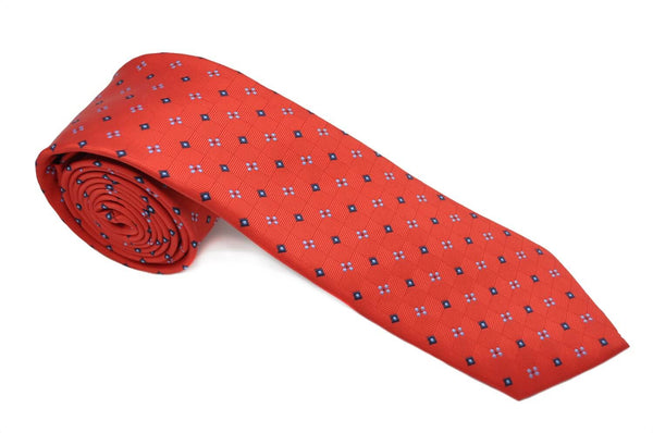 TCPA-12 Red Navy/Blue Squares Pattern Tie