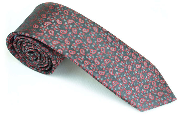 TCPA-21, Black-Red Paisley Tie