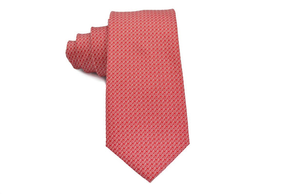 TCPA-23 Red Silver Pattern Tie