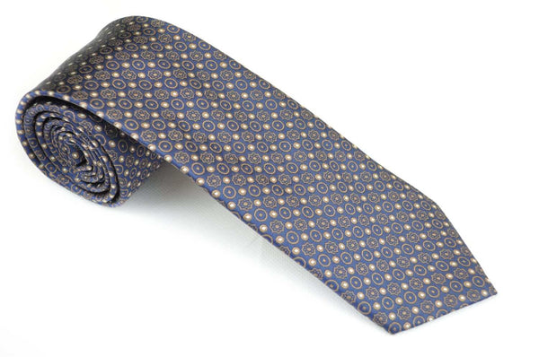TCPA-32, Navy-Grey-Brown Pattern Tie