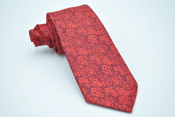 TCPA-37 Red Floral Pattern Tie