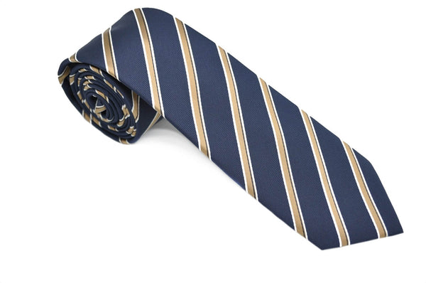 TCPA-3 Navy Gold Stripes Pattern Tie