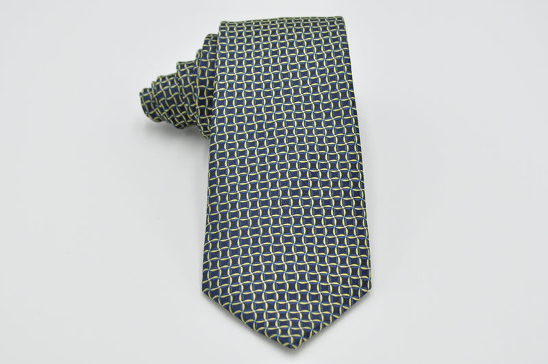 TCPA-51 Navy Green Square Pattern Tie