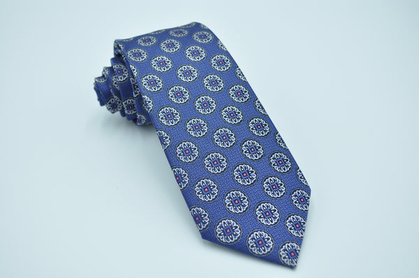 TCPA-67 Blue Flower Pattern Tie