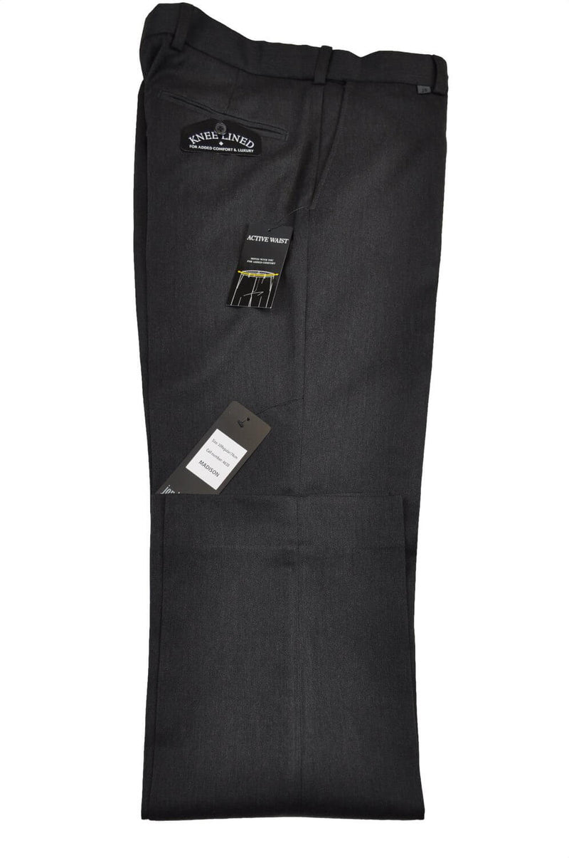 Trousers Madison, 4630-Charcoal, Reg