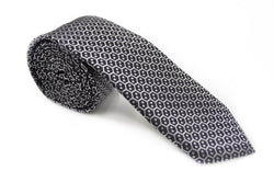 TSPA-22, Steel Grey Skinny Pattern Tie