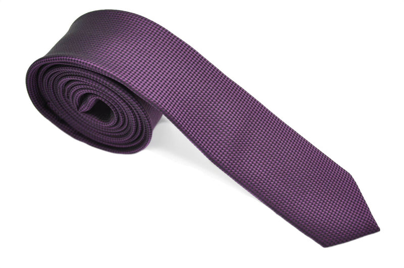 TSPL-9 Purple Skinny Plain Tie