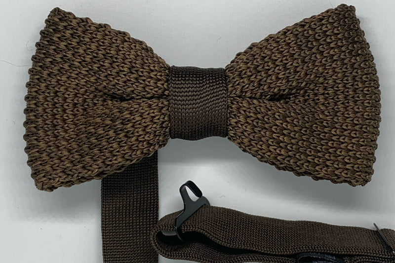 Boys Bow Tie 114 Knitted Brown
