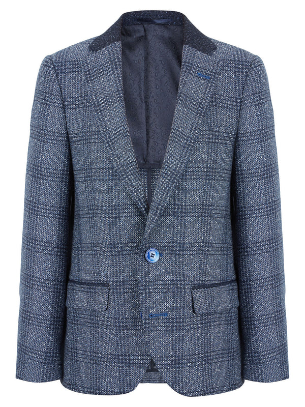 Boys Jacket Tivoli Blue Check
