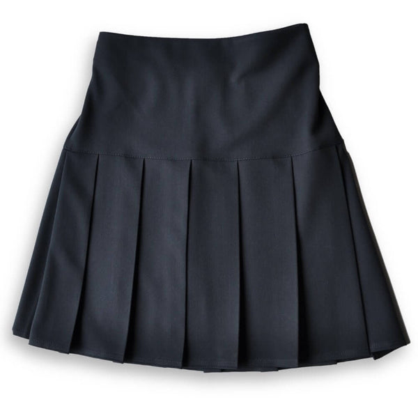 Skirt HEW Fan Pleat Stretch Navy (age 11-14)
