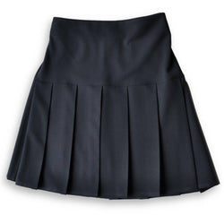 Skirt HEW Fan Pleat Stretch Navy (age 9/10)