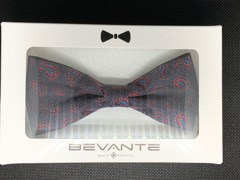 TBOW-30 Black/Red Paisley Bow Tie