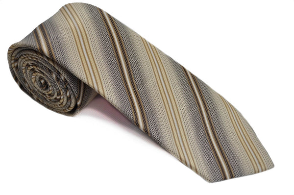 TCPA-46, Beige - Brown Pattern Tie