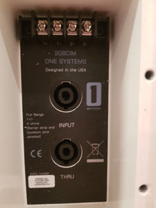 One Systems 208CIM White Speaker (Ex-Demo)