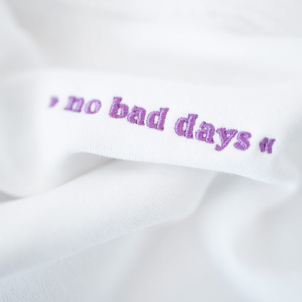 pellim.-no bad days hoodie - white-Hoodie
