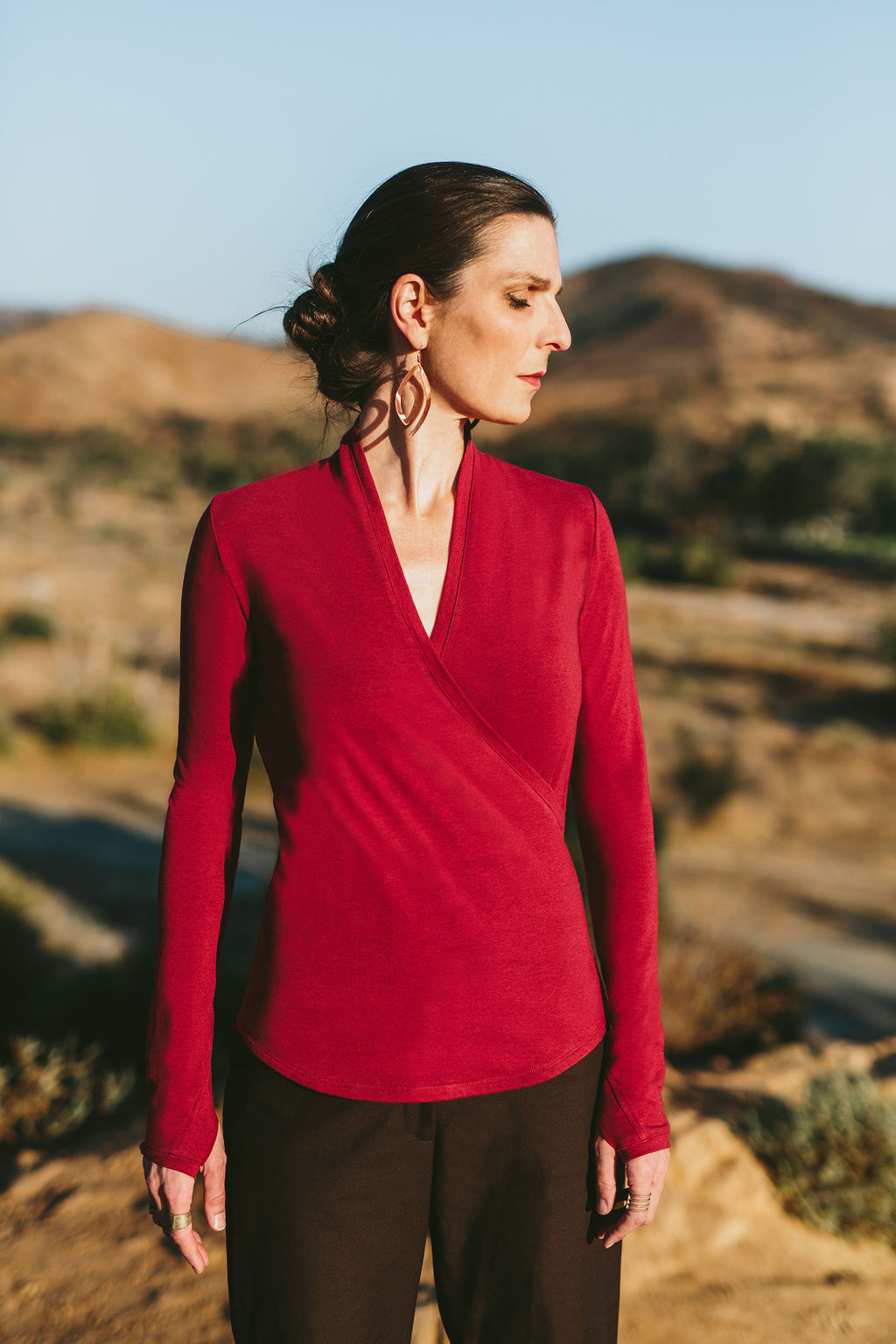The Soy Jersey Wrap Top