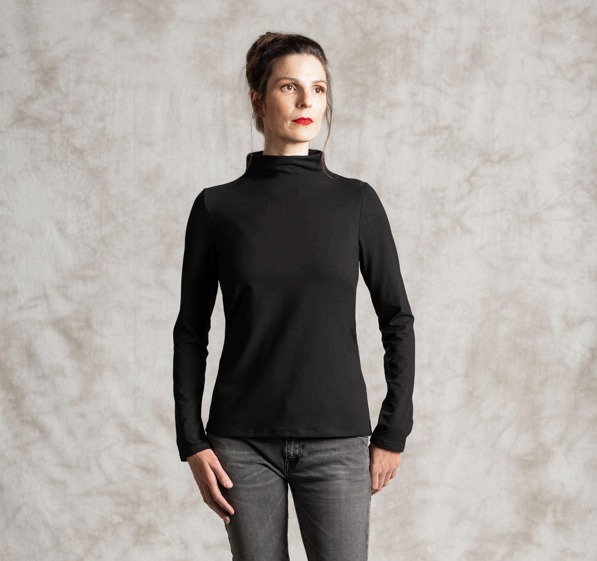 The T-Neck Soy/Cotton Jersey Top