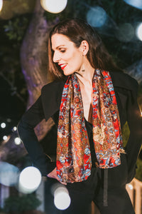 The Scarlet Medallion Scarf