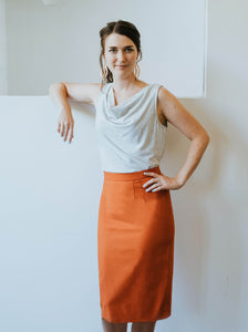 The Slant Vent Organic Cotton Skirt