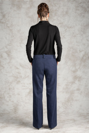 The Pin-Tuck Printed Trouser