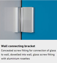 Load image into Gallery viewer, Aluminium Angle Brackets - Glass to Wall (Pack of Two)
