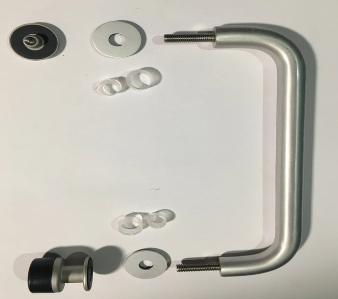 Anodised Aluminium Single 'D' Pull Handle Kit @ 225mm Centres