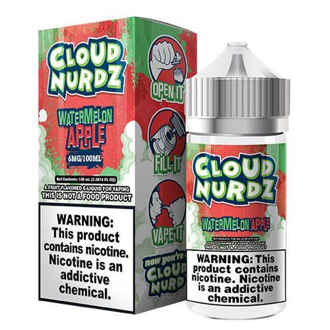 Cloud Nurdz eJuice - Watermelon/Apple