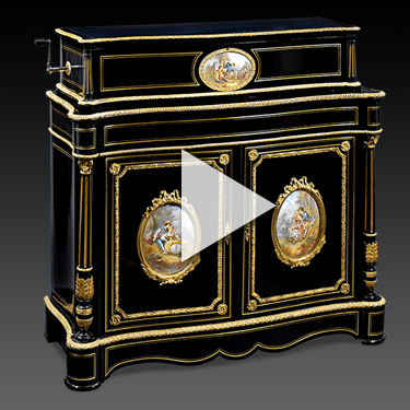 Swiss Ideal Music Box and Cabinet by Mermod Fréres