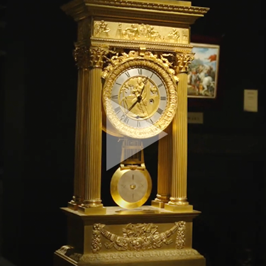 Double-Sided French Ormolu Portico Clock