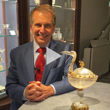 Expert Insights: Viennese Rock Crystal and Silver Gilt Crane Tazza