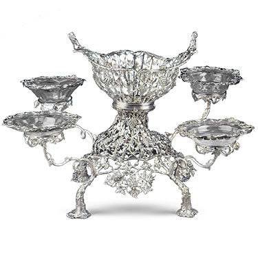 These rare gilt silver tazze were created by Digby Scott and Benjamin Smith for King George III