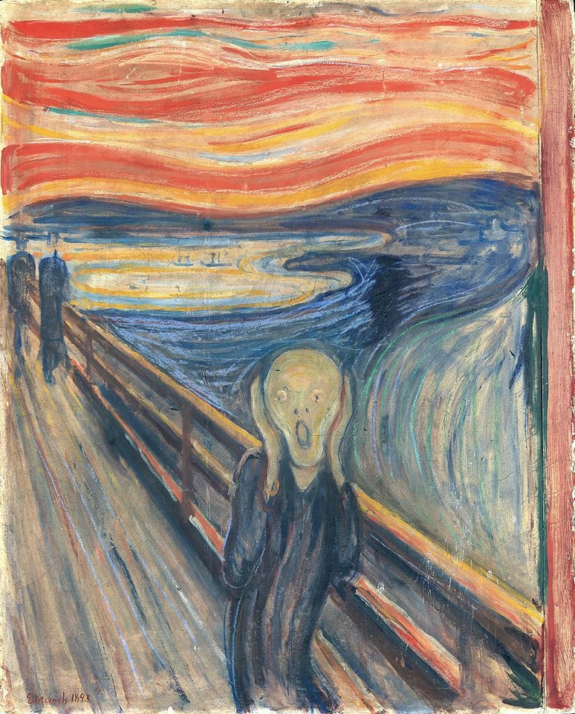 The Scream by Edvard Munch. Circa 1893. National Gallery of Norway
