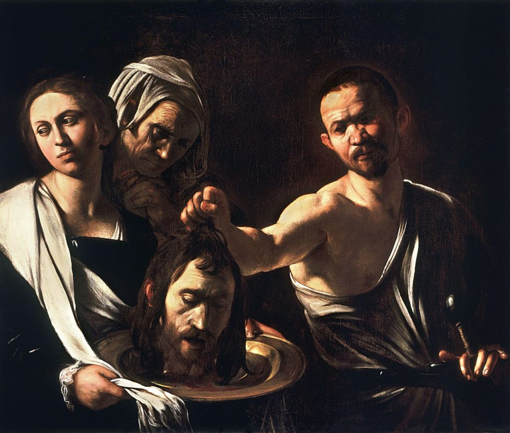 Salome with the Head of Saint John the Baptist by Caravaggio. National Gallery, London
