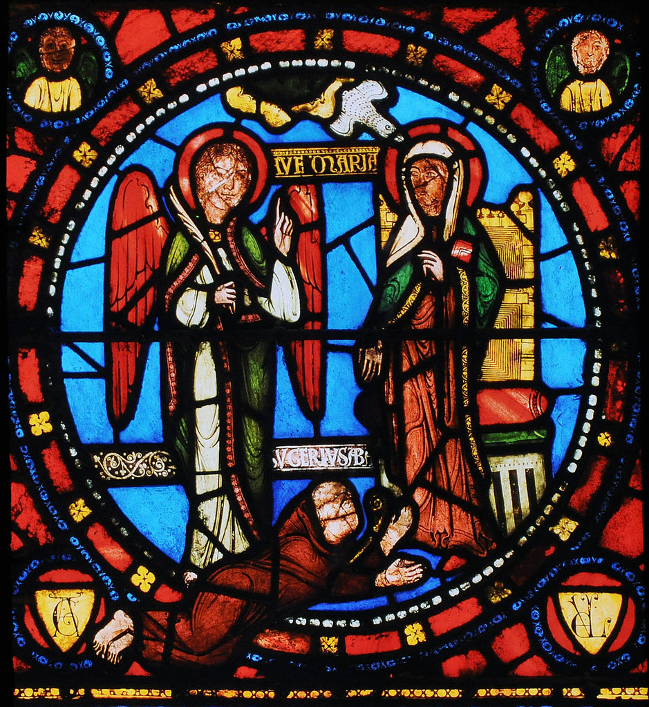 Stained glass detail, Basilica of Saint-Denis