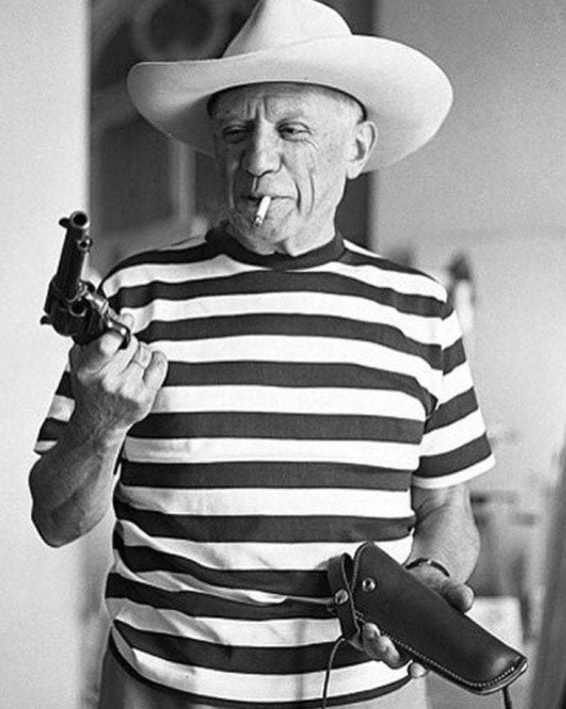 Picasso with revolver