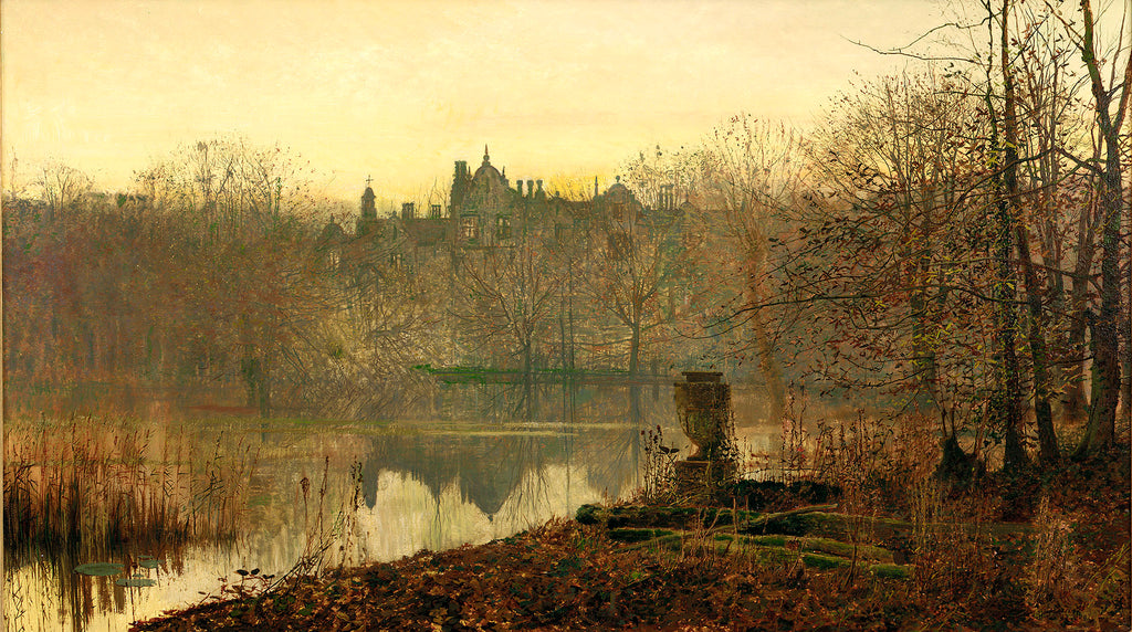 Evening Gold by John Atkinson Grimshaw. Dated 1882.