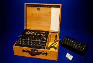 The Enigma machine that was selling for $198,500. Credit Sam Hodgson for The New York Times