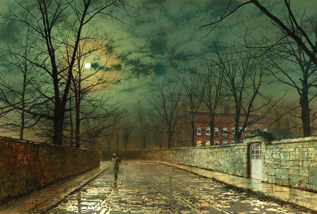 Under the Leafless Trees by John Atkinson Grimshaw. Dated 1880.